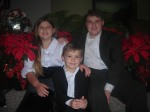 Aaron, Abigail & Andrew Christmas Picture
