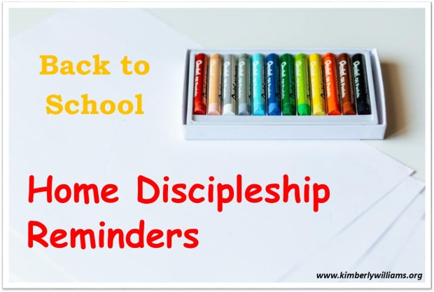 back to school discipleship
